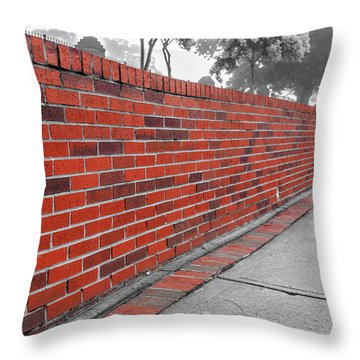 Red Brick Throw Pillow