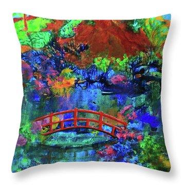 Red Bridge Dreamscape Throw Pillow