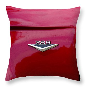 Red Bronco 289 Throw Pillow