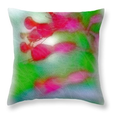 Red Buckeye Throw Pillow