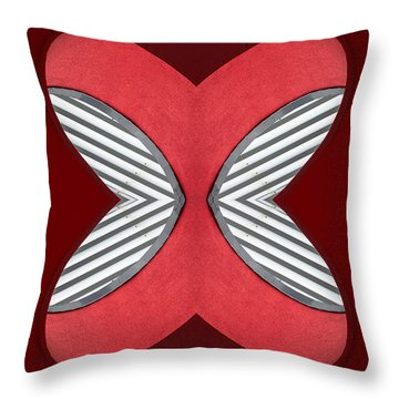 Red Building Abstract No.55 Throw Pillow by Raymond Kunst