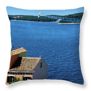 Red Bull Air Show, Rovinj, Croatia Throw Pillow