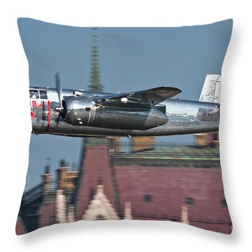 Red Bull North American B-25j Mitchell Throw Pillow by Anton Balakchiev