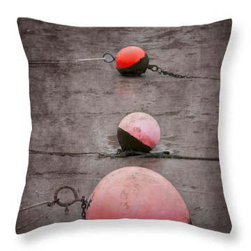 Red Buoys  Throw Pillow by Svetlana Sewell