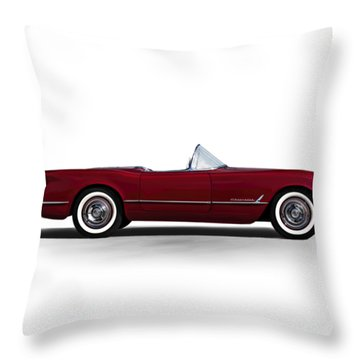 Red C1 Convertible Throw Pillow
