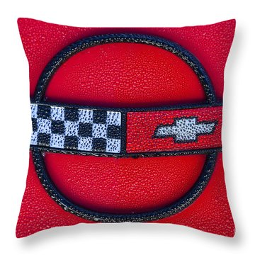 Red C4 Throw Pillow