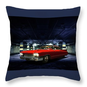 Red Caddie Throw Pillow by Steven Agius