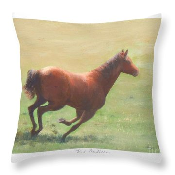 Red Cadillac Throw Pillow