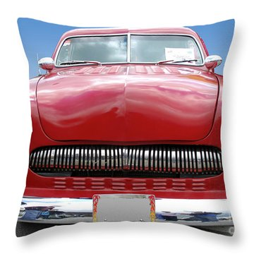 Red Car Throw Pillow