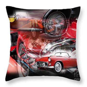Throw Pillow featuring the photograph Red Car Dreams by John Rizzuto