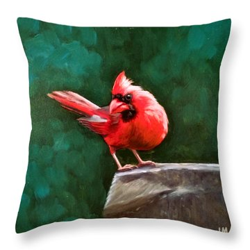 Red Cardinal Throw Pillow