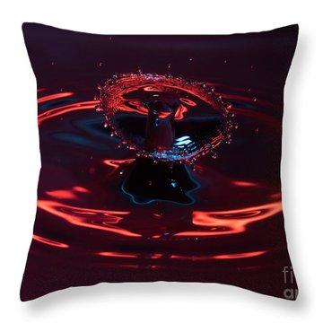Red Carousel Throw Pillow