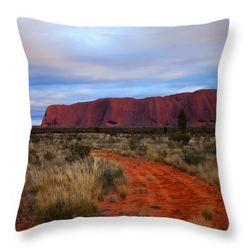 Red Center Dawn Throw Pillow by Mike  Dawson