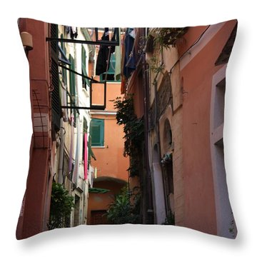 Throw Pillow featuring the photograph Red Chair by Pat Purdy