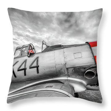Red Checkers Throw Pillow