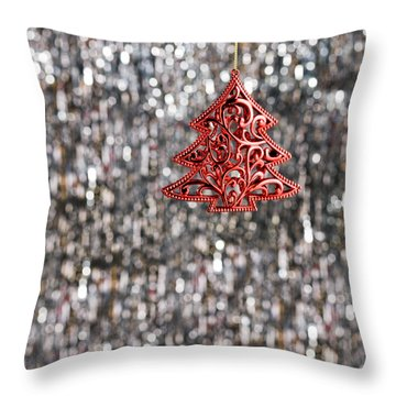 Throw Pillow featuring the photograph Red Christmas Tree by Ulrich Schade