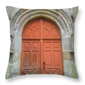 Red Church Door IIi Throw Pillow by Helen Northcott