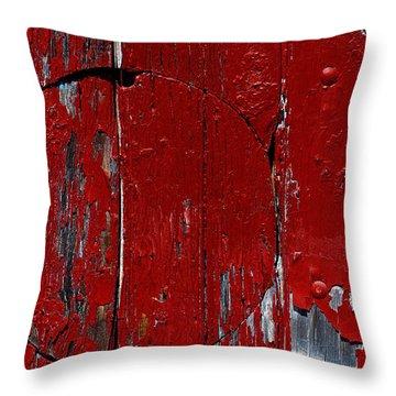 Red Circle Throw Pillow