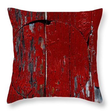 Red Circle Throw Pillow