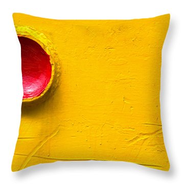 Red Circle In The Corner Throw Pillow