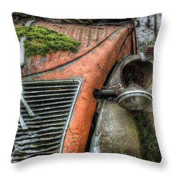 Red Citroen Throw Pillow by Nathan Wright