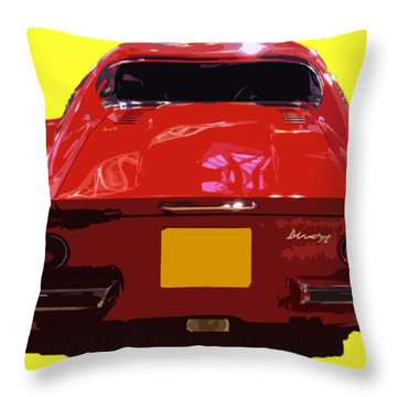 Red Classic Emd Throw Pillow