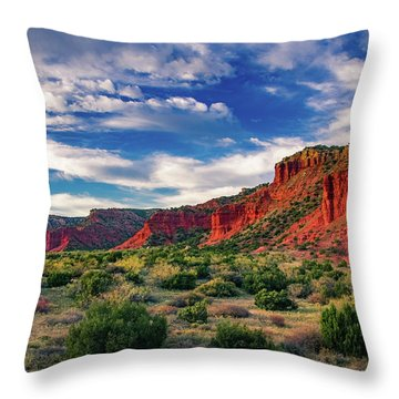 Red Cliffs Of Caprock Canyon 2 Throw Pillow