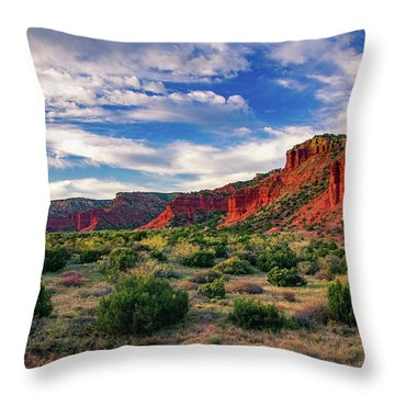 Red Cliffs Of Caprock Canyon Throw Pillow