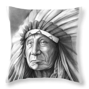 Red Cloud Throw Pillow by Greg Joens
