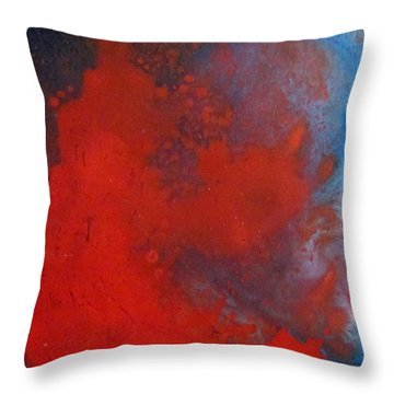 Throw Pillow featuring the painting Red Cloud by Mary Kay Holladay