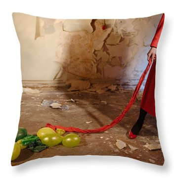 Red Coat #4810 Throw Pillow