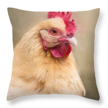 Throw Pillow featuring the photograph Red Comb by Robin-Lee Vieira