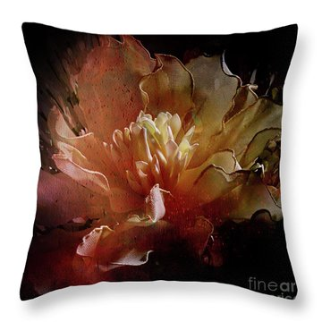 Red Composition Throw Pillow by Barbara Dudzinska