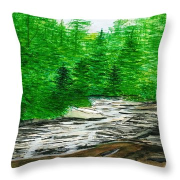 Red Creek Throw Pillow
