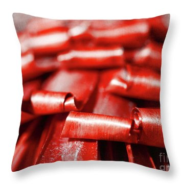 Red Curls Throw Pillow