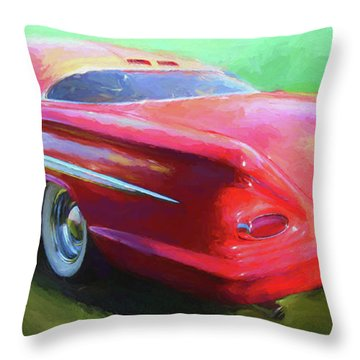 Red Custom Throw Pillow