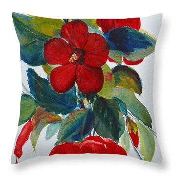 Red Dance Throw Pillow
