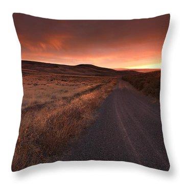Red Dawn Throw Pillow by Mike  Dawson