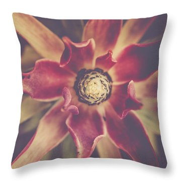 Red Devil Flower Throw Pillow