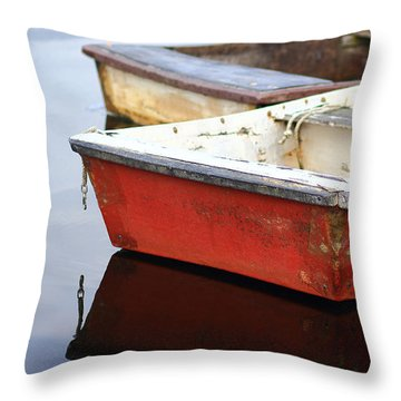 Red Dingy Throw Pillow