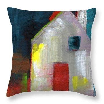Red Door- Art By Linda Woods Throw Pillow