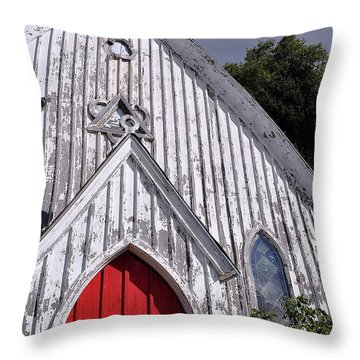Red Door Throw Pillow by Gina Savage