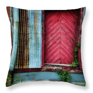 Throw Pillow featuring the photograph Red Door by James Barber