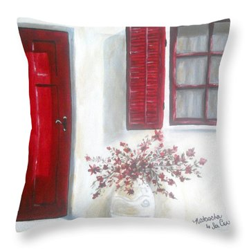 Red Door Throw Pillow