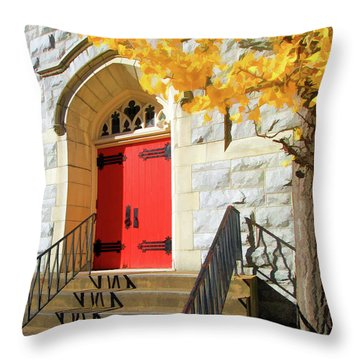 Red Door Tradition Throw Pillow