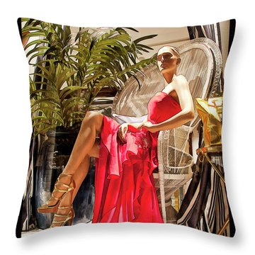 Throw Pillow featuring the photograph Red Dress - Chuck Staley by Chuck Staley