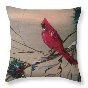 Red Drifter Throw Pillow