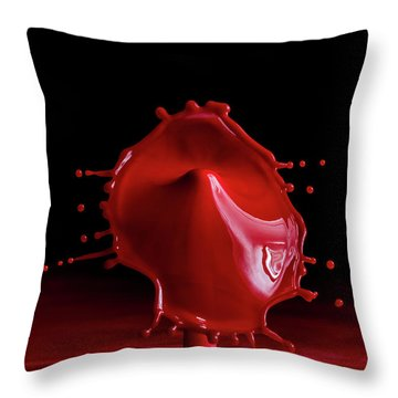 Red Drop Throw Pillow