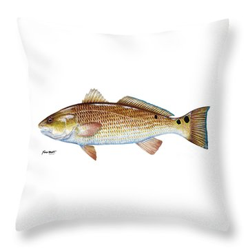 Red Drum  Redfish Throw Pillow