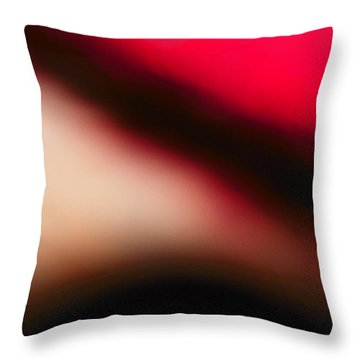Red Explorer Abstract Throw Pillow